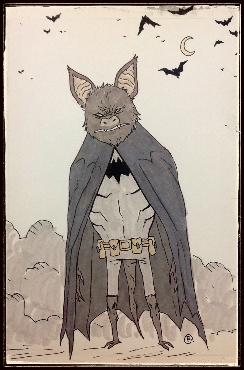 DailyDoodle BATman by darrenrawlings