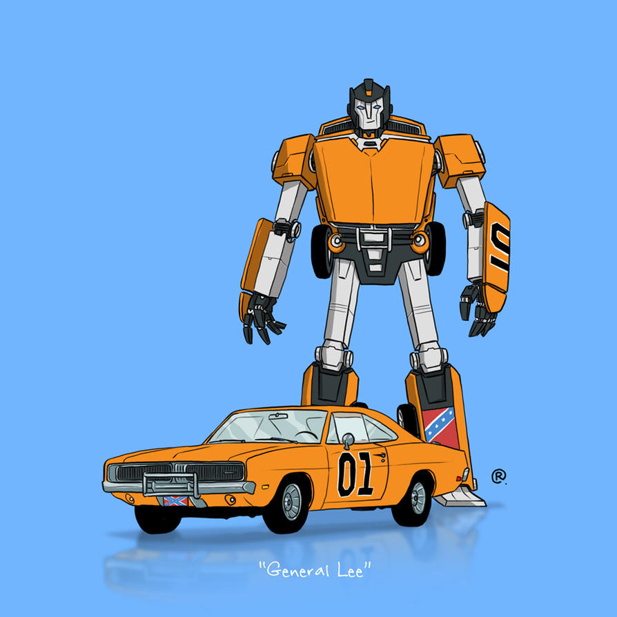 If They Could Transform - General Lee by darrenrawlings