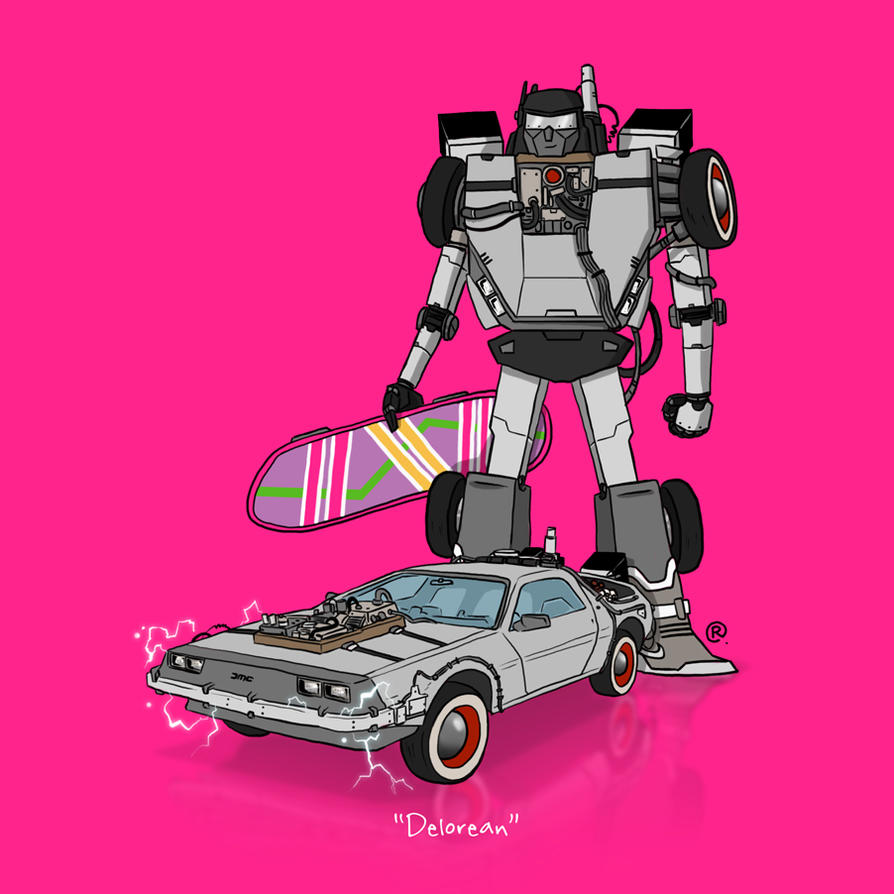 If They Could Transform - Delorean by darrenrawlings
