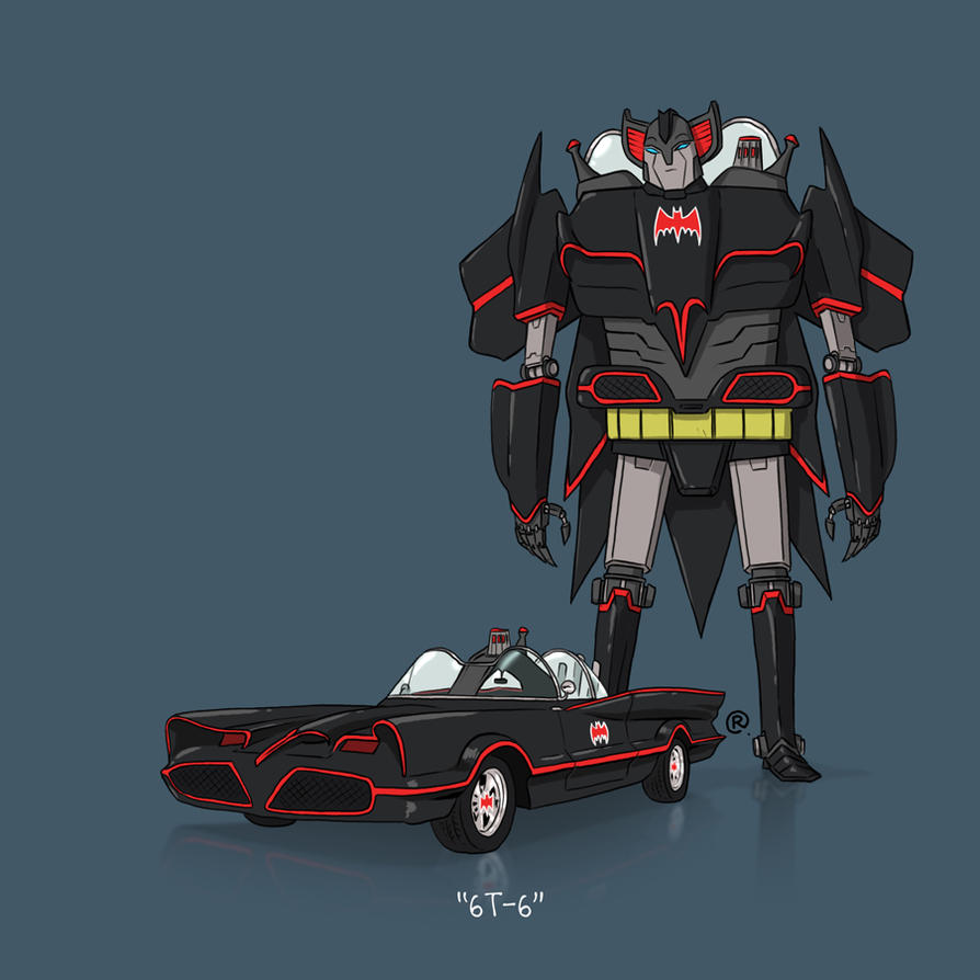 If They Could Transform - 66Batmobile by darrenrawlings