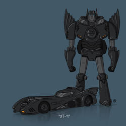 If They Could Transform - 89Batmobile by darrenrawlings