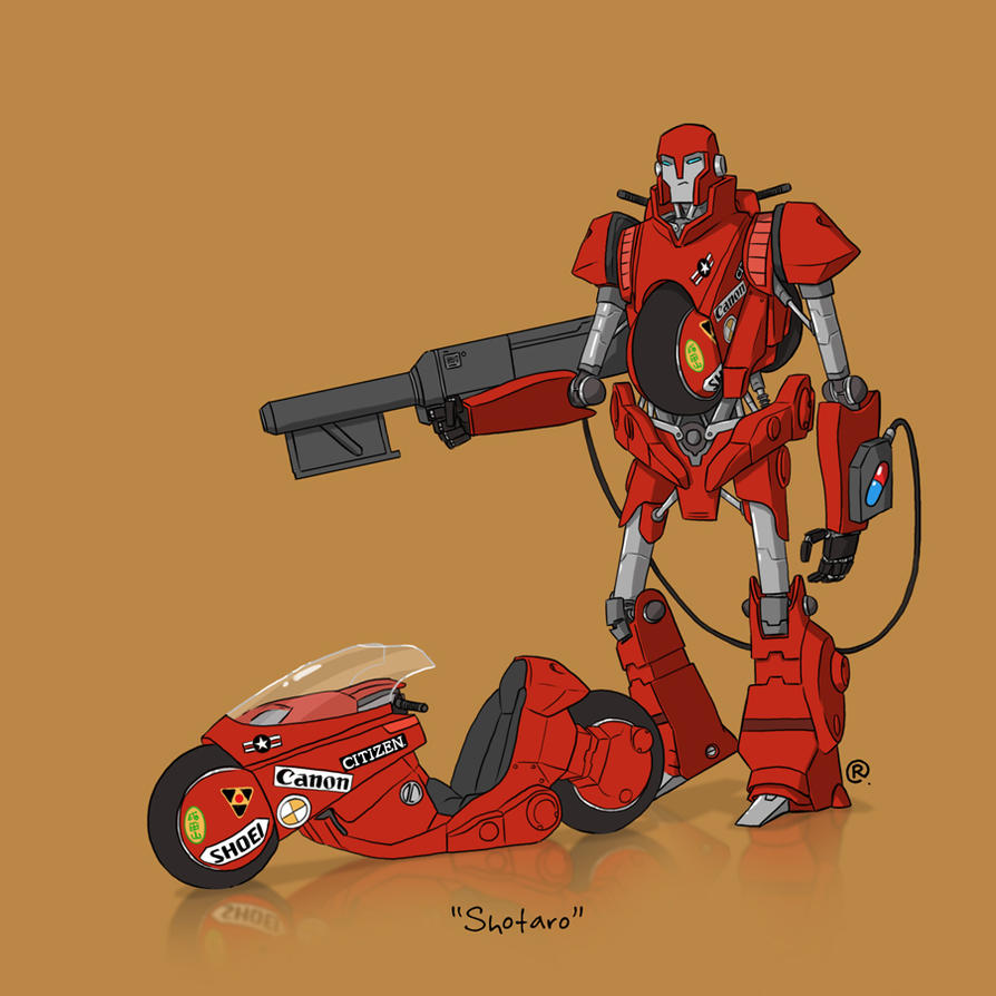 If They Could Transform - Kaneda's Bike by darrenrawlings
