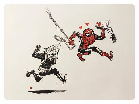Spidey loves metal arms
