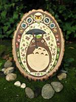 Totoro Painting on Wood