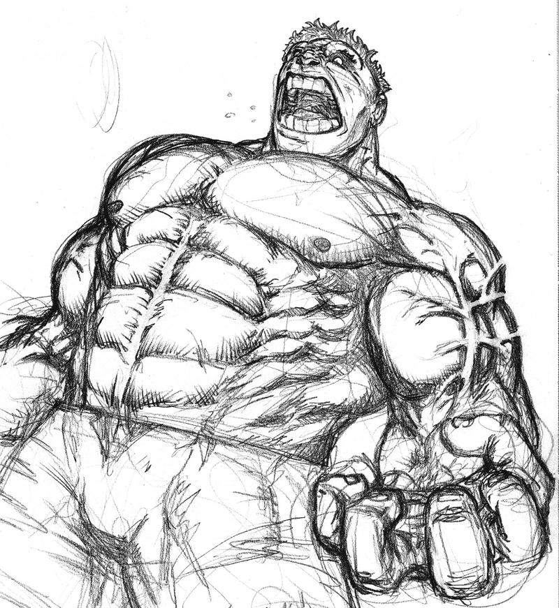 Old Hulk Sketch By Spacehater On DeviantArt