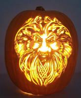 Bearded Green Man by pumpkinsbylisa
