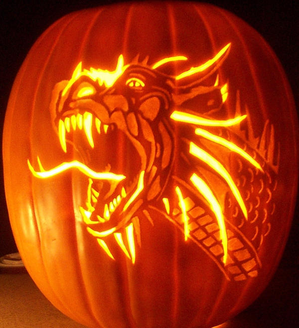 Dragon by pumpkinsbylisa on deviantart Awesome pumpkin drawings