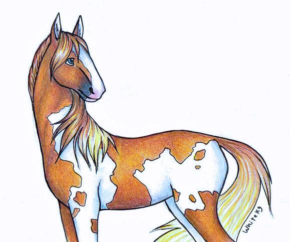 random cartoon horse by whitek9 on deviantart rh whitek9 deviantart com cartoon pictures of horses stuck in snow cartoon pictures of horses biting