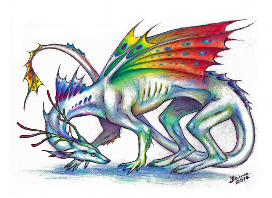 Prismatic Dragon by WhiteK9