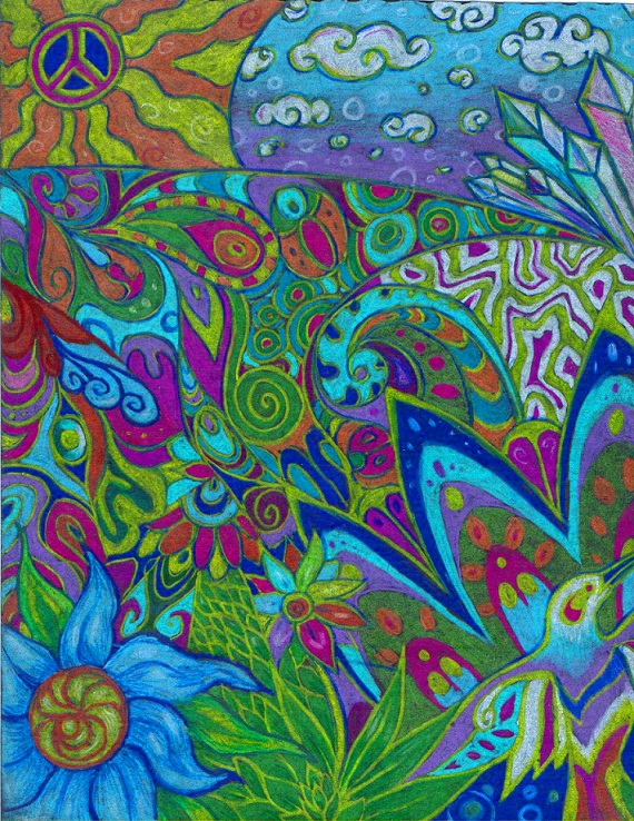 Psychedelic doodle by WhiteK9