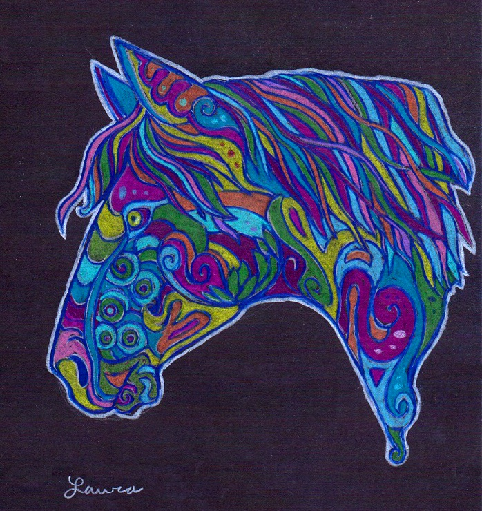 Psychedelic Horse by WhiteK9