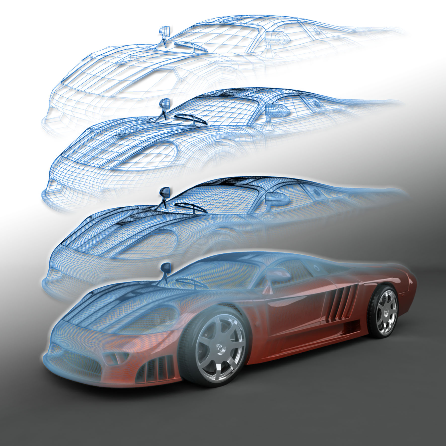 Images of 3d Meshes Car - #rock-cafe