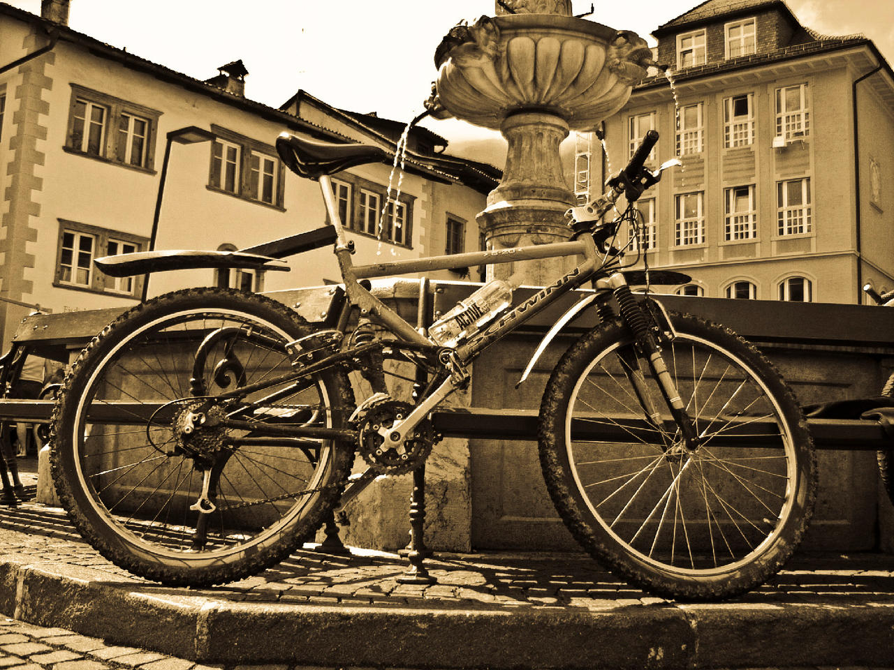 My old Bike and Me in Caldaro by realschmied on deviantART