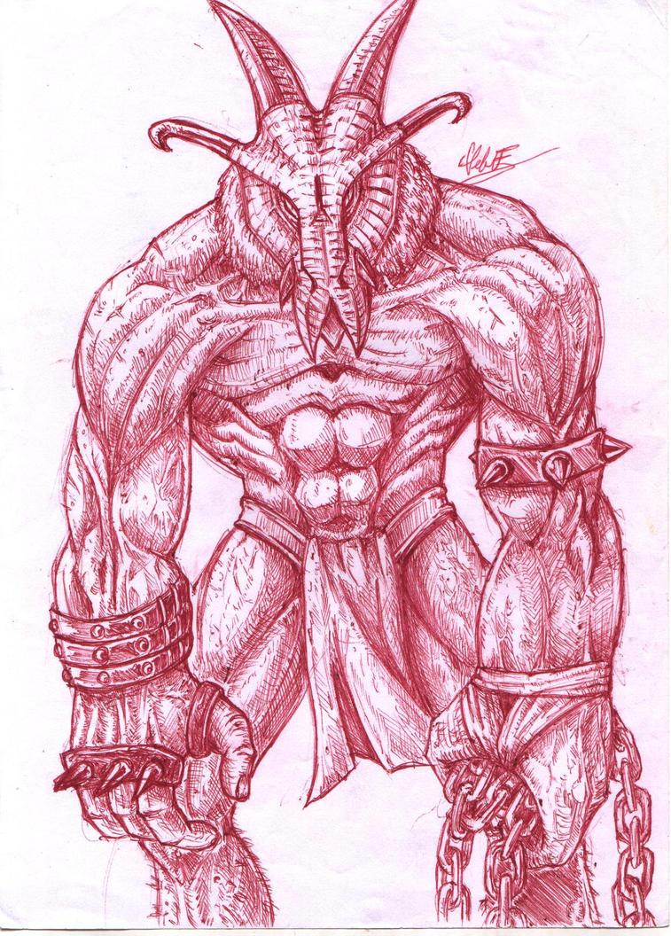 Red Demon Warrior by ForeverZeroDragon