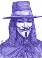 V For Vendetta speed drawing by ForeverZeroDragon