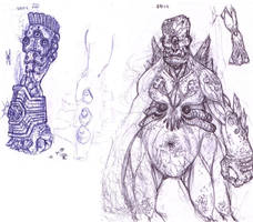Earth Colossus Concept Sketch by ForeverZeroDragon