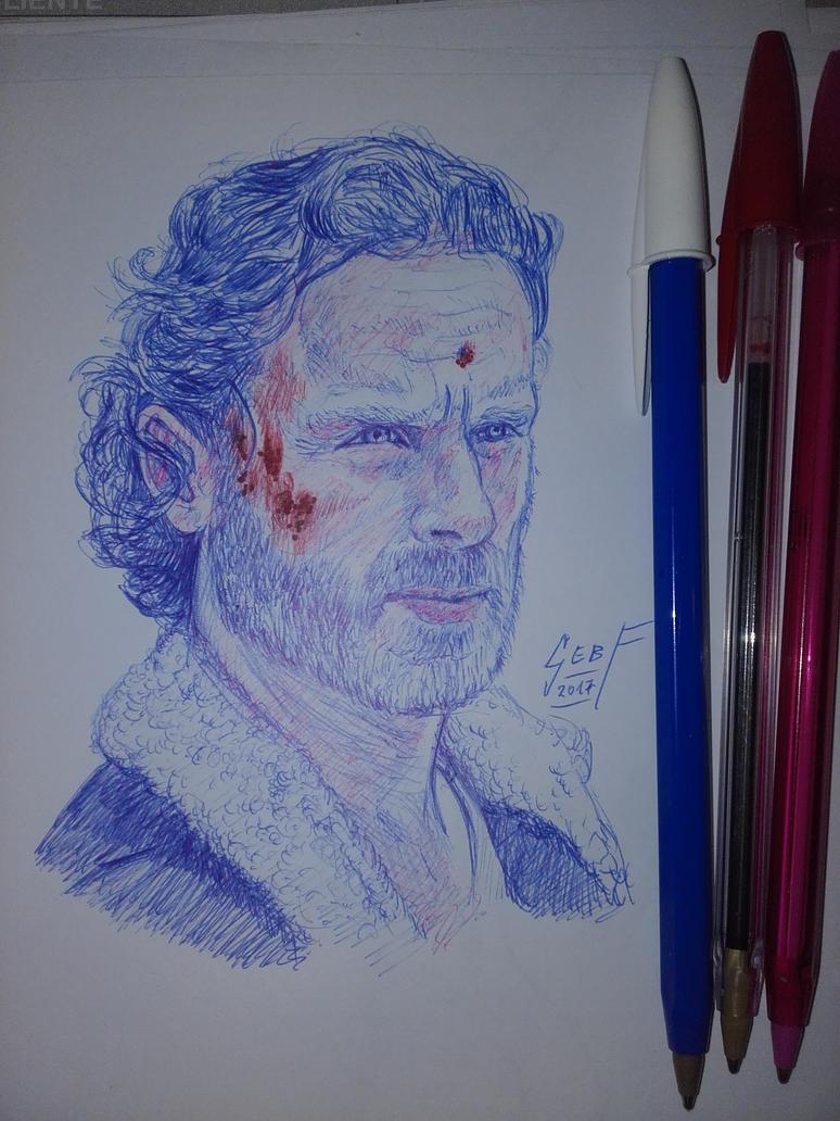 Rick Grimes - The Walking Dead - Sketch by ForeverZeroDragon