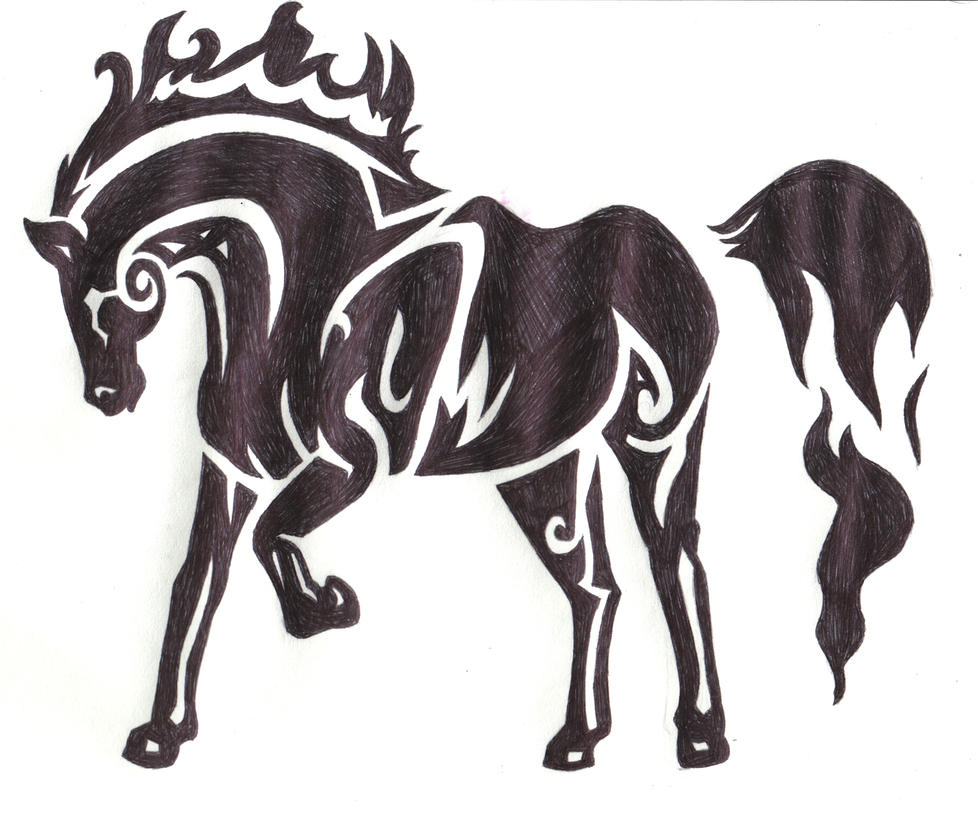 Tribal Horse Drawing