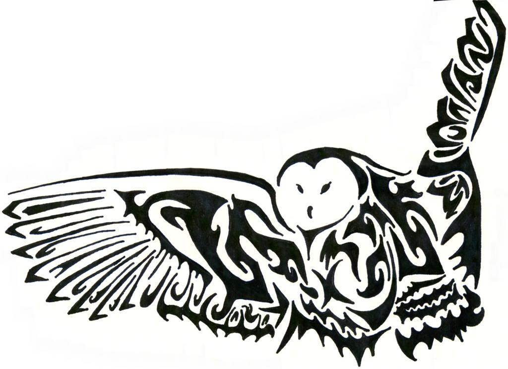 428748fd2 Tribal barn owl tattoo - photo#8