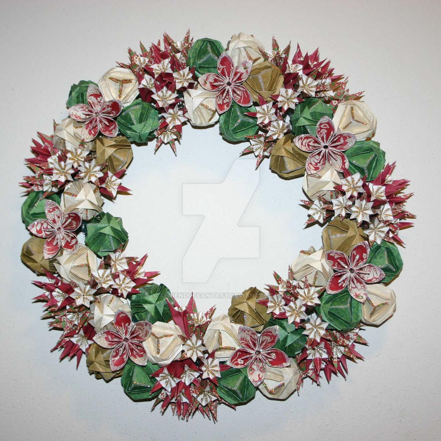 Origami Wreath and Garland | 900x900