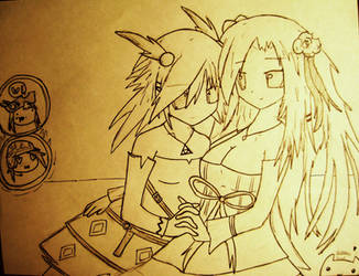 Epic Battle Fantasy 4 fan art 2 yuri by Liuv