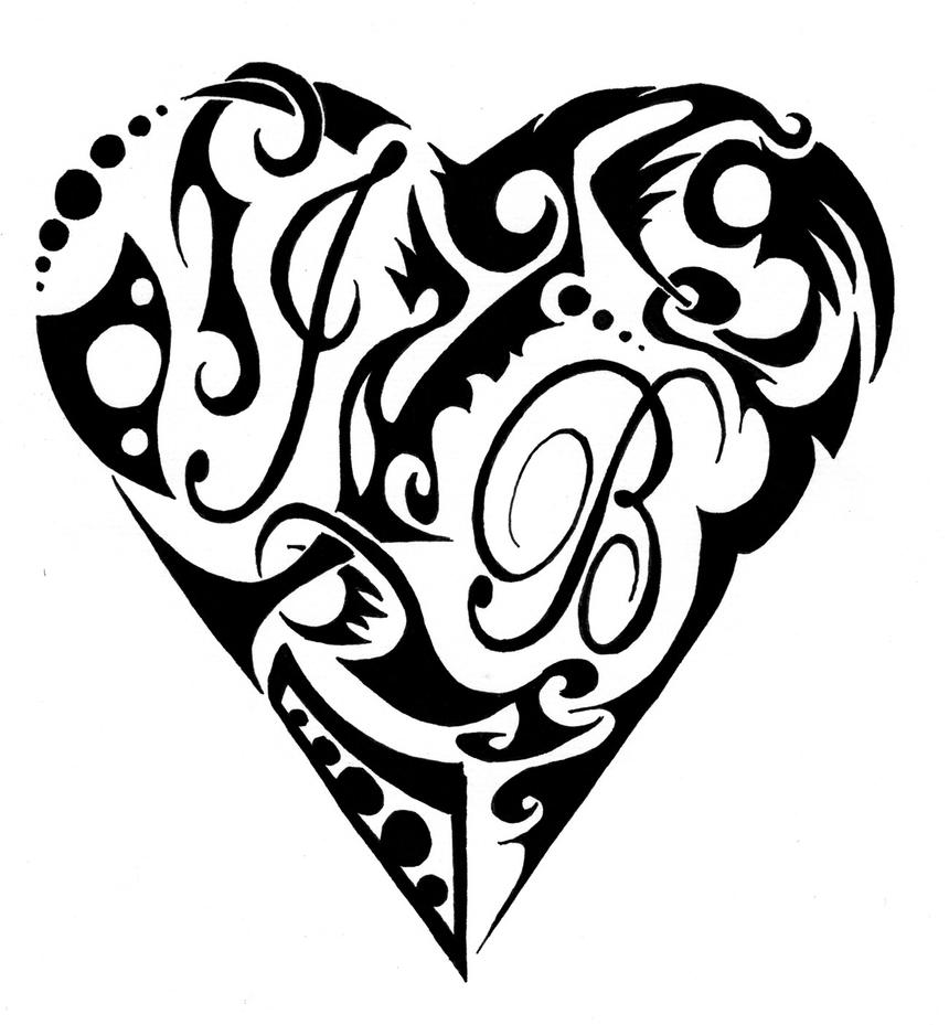 Drawings Of Tribal Hearts Tribal Heart by LinkGi...