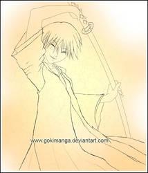 Ichimaru Gin-Lineart by Gokiru