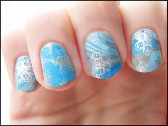 Jack Frost Inspired Water Marble by Alchemical