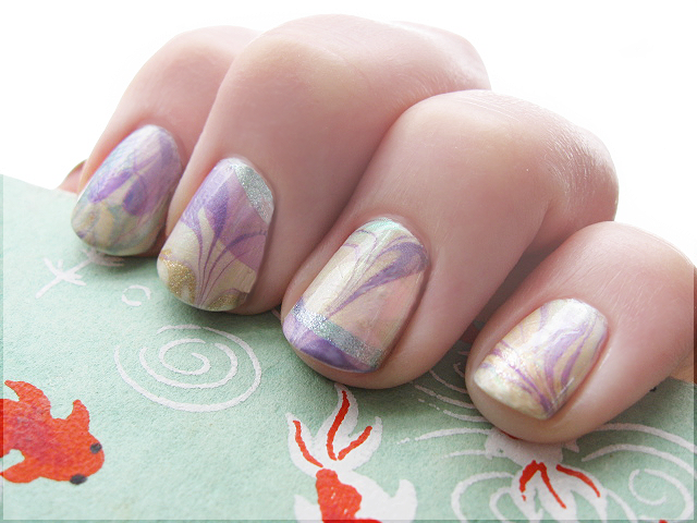 Double Dipped Easter Water Marble by Alchemical