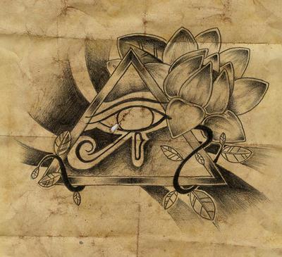 egypt eye by rozeink