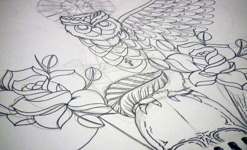 owl details by rozeink