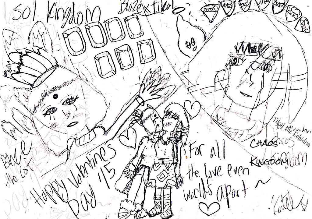 Blaze x Tikal- Valentine's 15- Love Worlds Apart by FluffyWhiteKiss