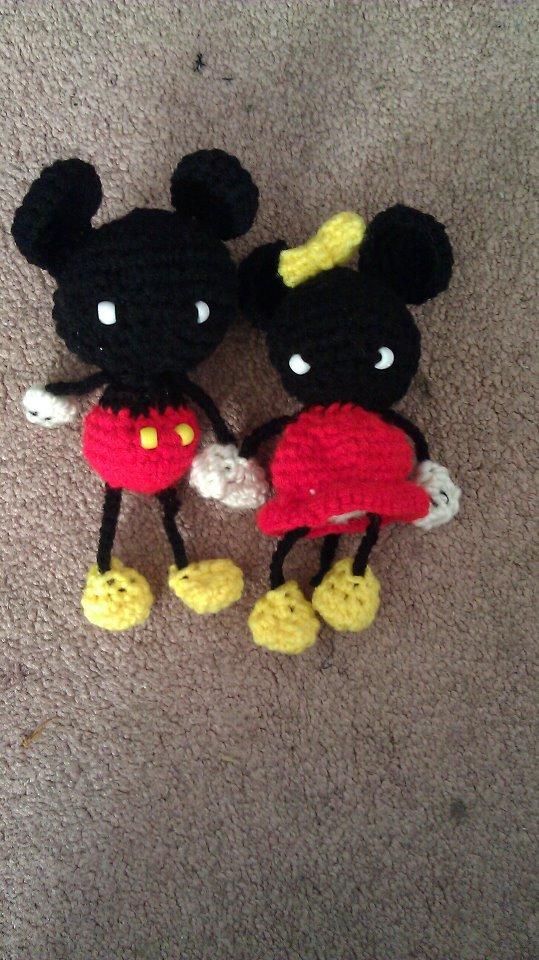 Crochet Pattern Owl Amigurumi : Mickey Mouse and Minnie Mouse Amigurumi by lylfairygirl on ...