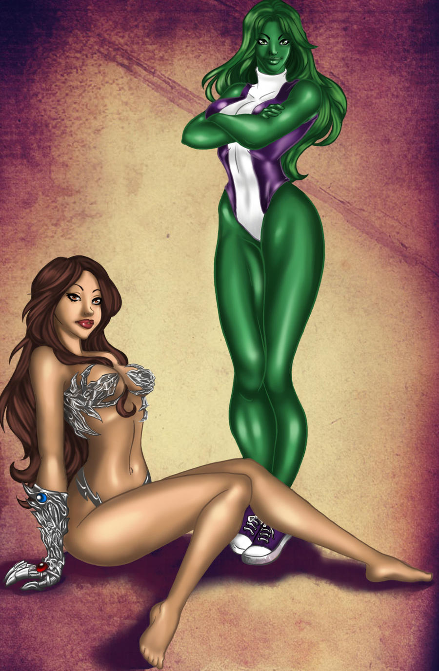 Witchblade She-Hulk color by Xenomrph