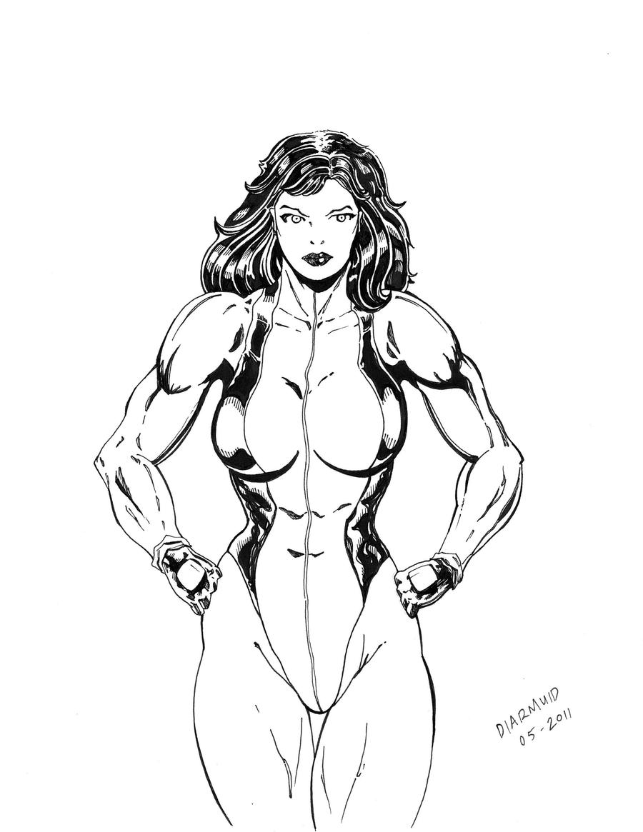She-hulk commission 34 by Xenomrph