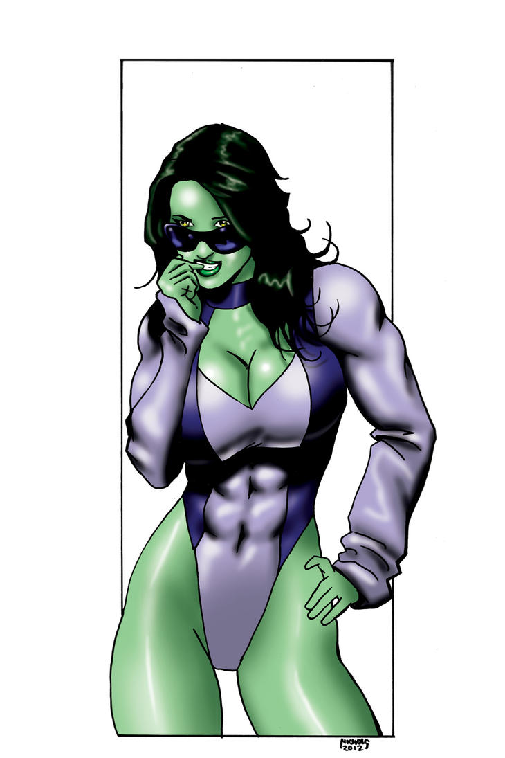She-hulk commission 40 color by Xenomrph