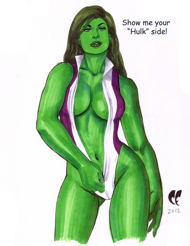 She-hulk commission 43 by Xenomrph