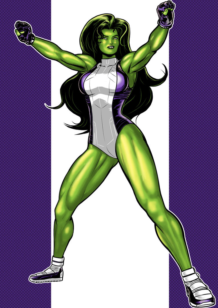 She-hulk commission 45 by Xenomrph