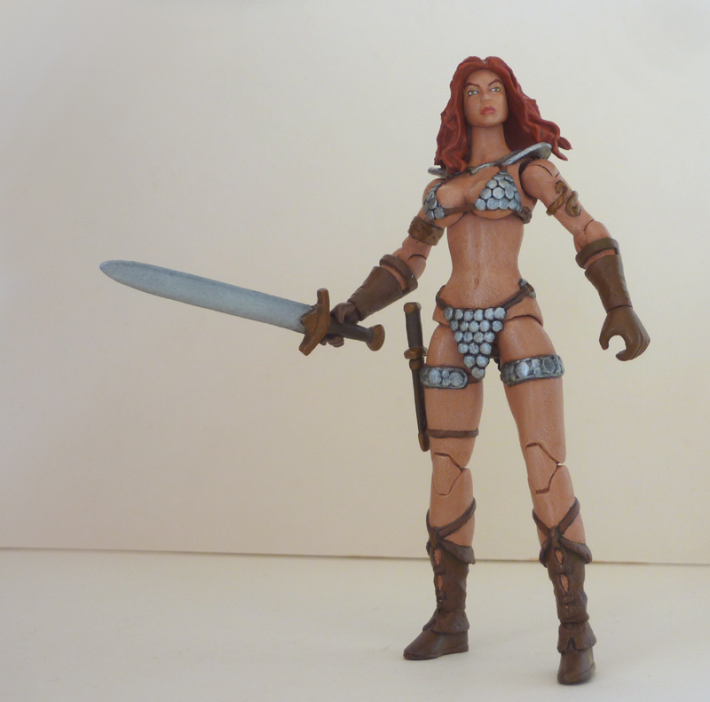 Red Sonja custom action figure 4 by Xenomrph