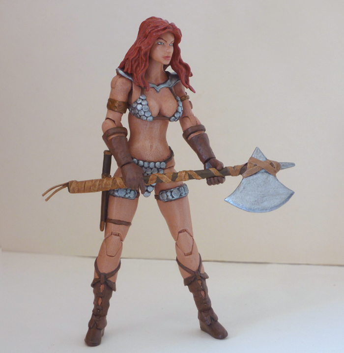 Red Sonja custom action figure 6 by Xenomrph