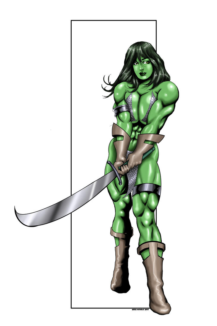 She Hulk Commission 49 - GREEN SONJA by Xenomrph