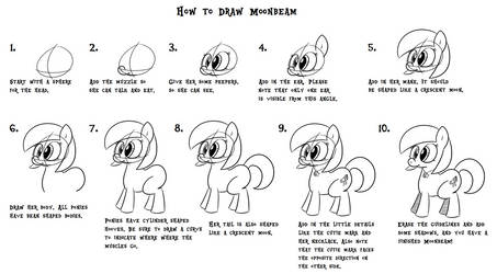 Step-by-Step Guide to Drawing Moonbeam by LittleLooney