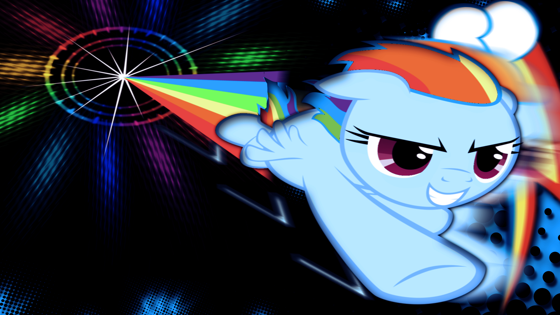 Sonic Rainboom by JustaninnocentPony