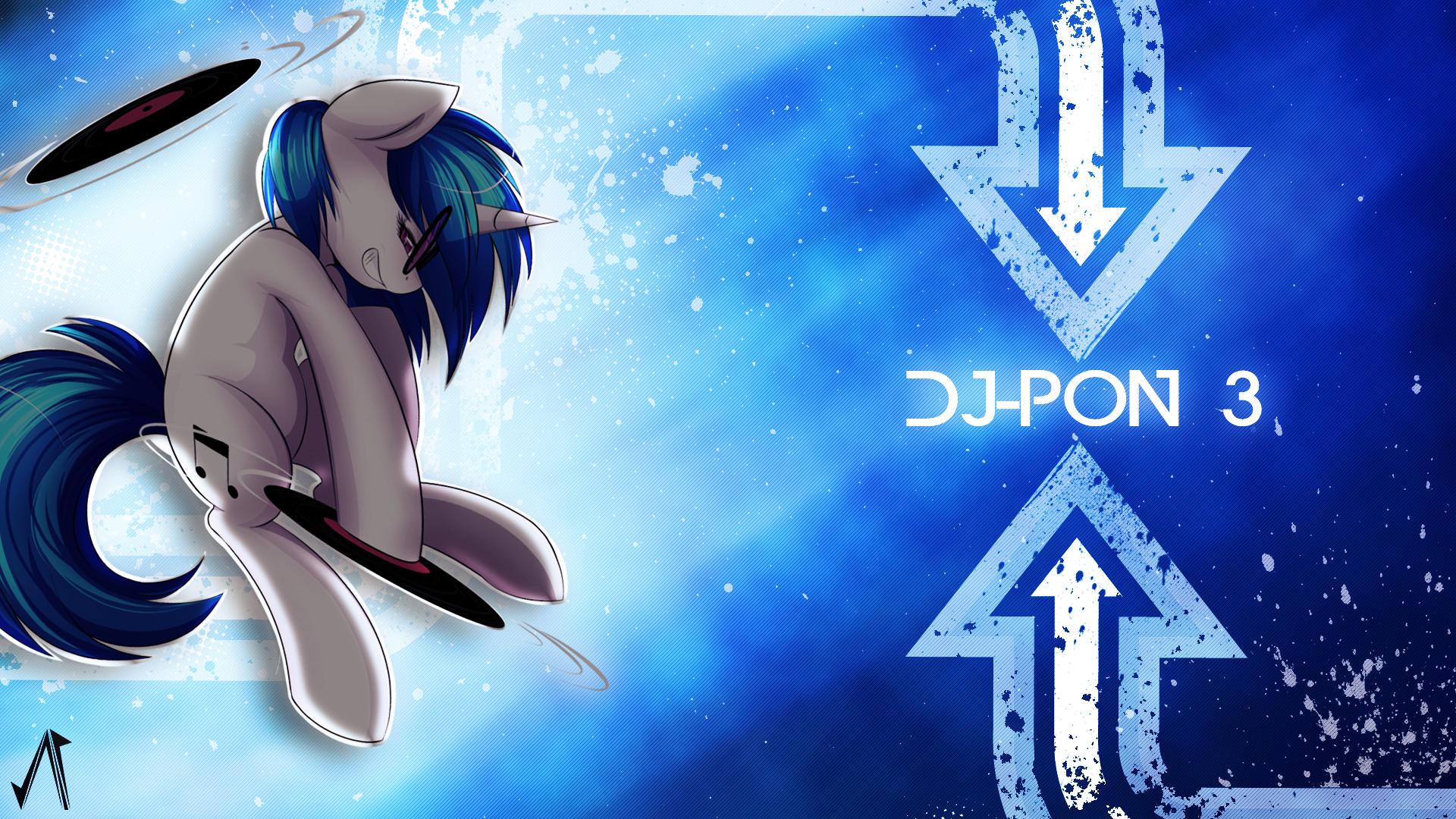 Dj-pon3 by JustaninnocentPony