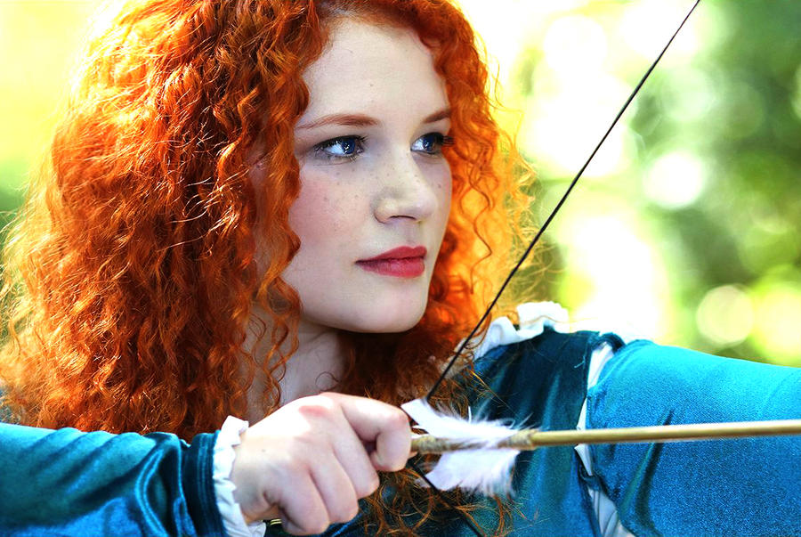 I am Merida, and I'll be shooting for my own hand by HaruMikuHoshi