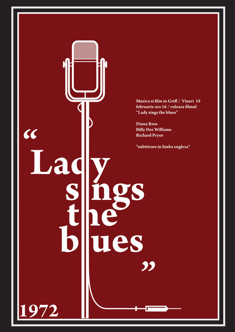 lady sings the blues poster by adivasiliu on DeviantArt