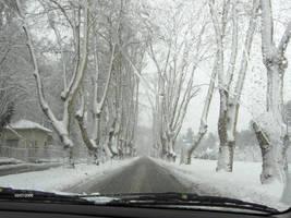 Snowy Alley by 2reddy