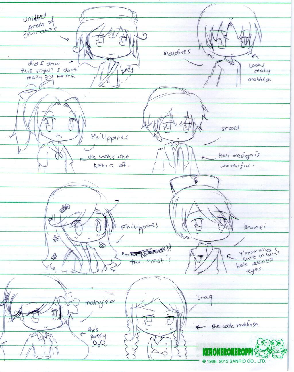Hetalia: Asia No Naka Ni Doujin Characters pt.2 by Fantashii