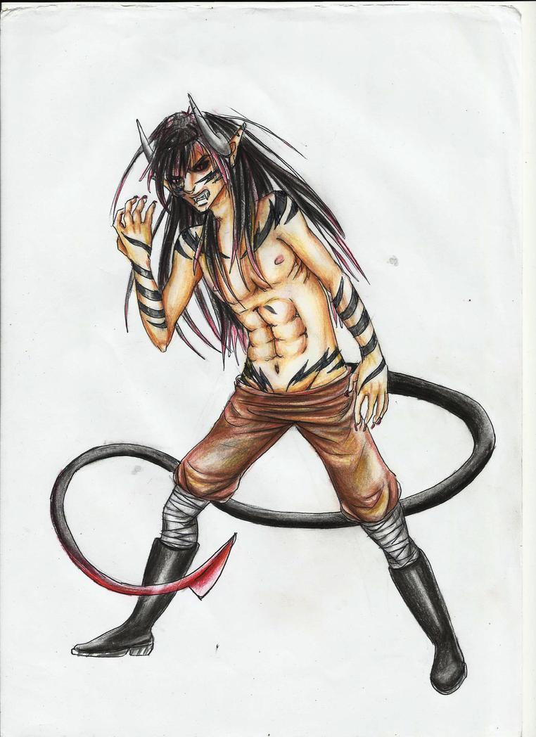 Takeru demon form by Sadako-26