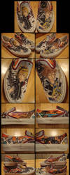 KH: Roxas x Sora .Shoe Commish by Kaumi